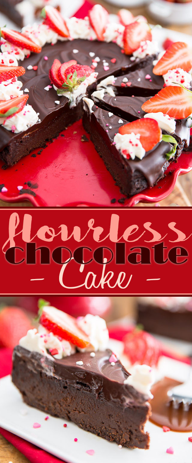 So rich, dense, creamy and decadent, this Flourless Chocolate Cake is what every true chocolate lovers' dreams are made of!