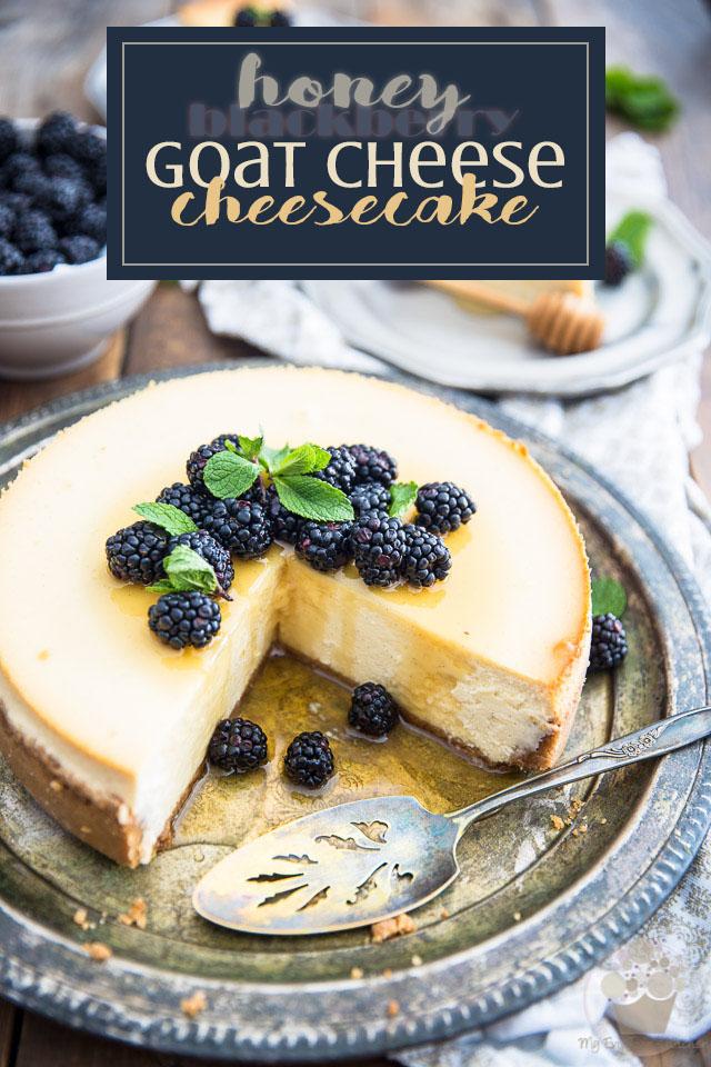 Blackberry Honey Goat Cheese Cheesecake • My Evil Twin's ...