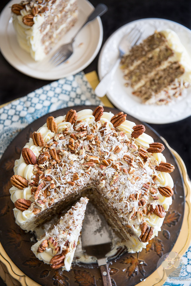 Have a slice of paradise! Hummingbird Cake was given an additional twist and made even more tropical thanks to the addition of shredded coconut.