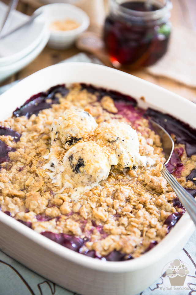 Need a change from your habitual berry crumble? Kick things up a notch and drench your berries in a delicious, creamy maple filling! So good, you'll never look back!