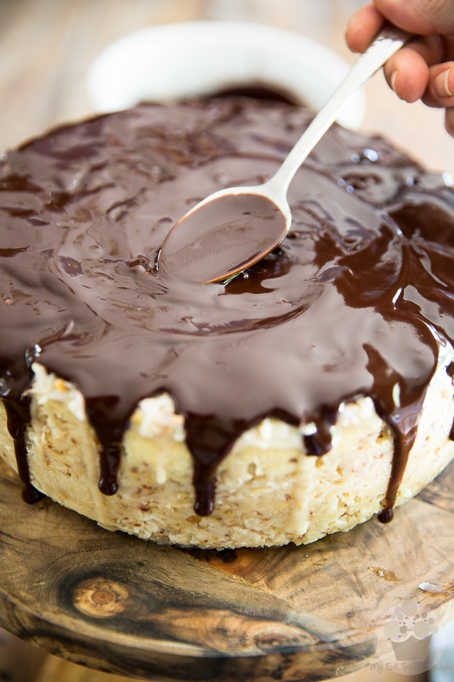 Almond Joy Cheesecake by My Evil Twin's Kitchen | Recipe and step-by-step instructions on eviltwin.kitchen