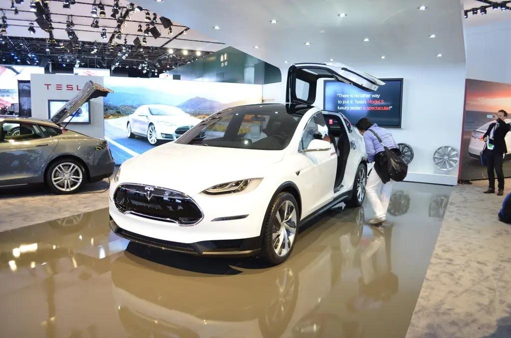 tesla-model-x at Detroit Exterior