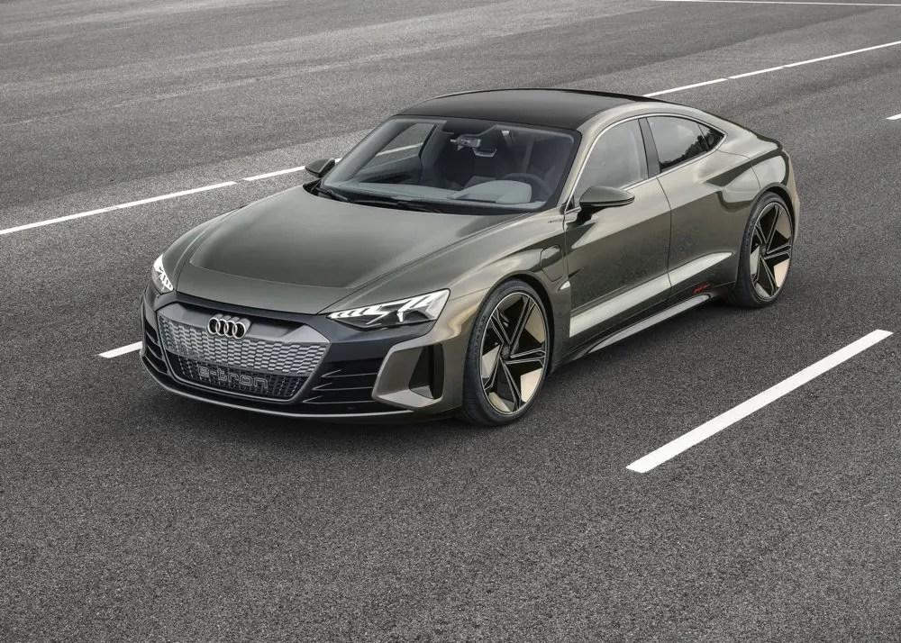 Audi e-tron GT on road