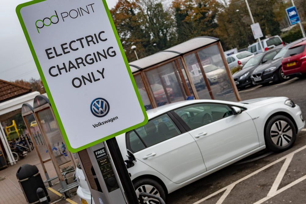 Volkswagen and Tesco EV only