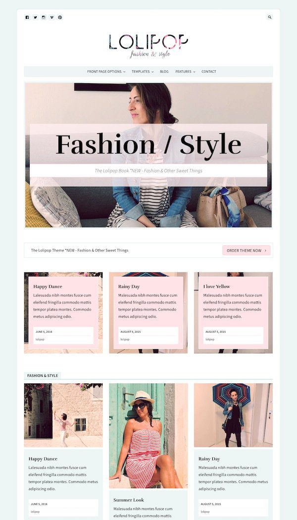 best premium blogging theme: Lolipop