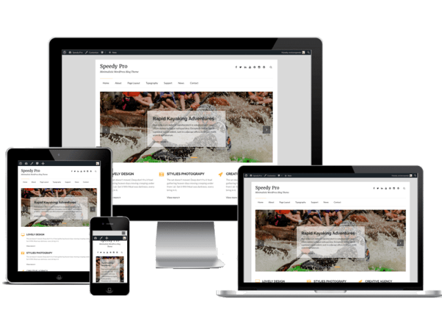 best premium blogging theme: Speedy Pro