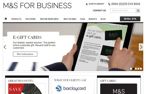 notable websites using wordpress: Marks & Spenser for Business