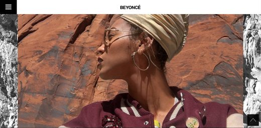 notable websites using wordpress: Beyonce