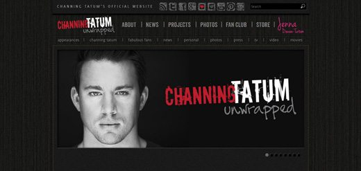 notable websites using wordpress: Channing Tatum