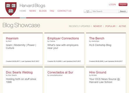 notable websites using wordpress: Harvard Law