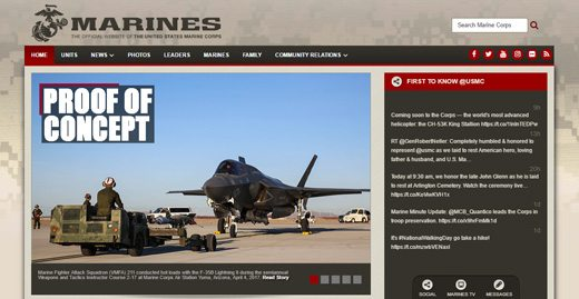 notable websites using wordpress: Marines Magazine
