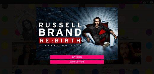 notable websites using wordpress: Russell Brand
