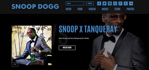 notable websites using wordpress: Snoop Dogg