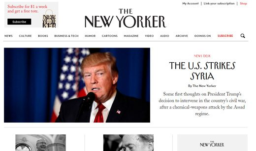 notable websites using wordpress: The New Yorker
