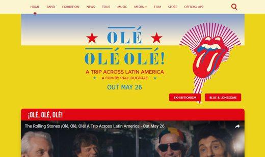 notable websites using wordpress: The Rolling Stones
