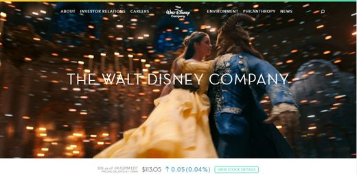 notable websites using wordpress: The Walt Disney Company