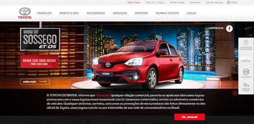 notable websites using wordpress: Toyota Motors Brasil