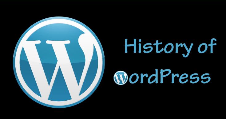 history of wordpress