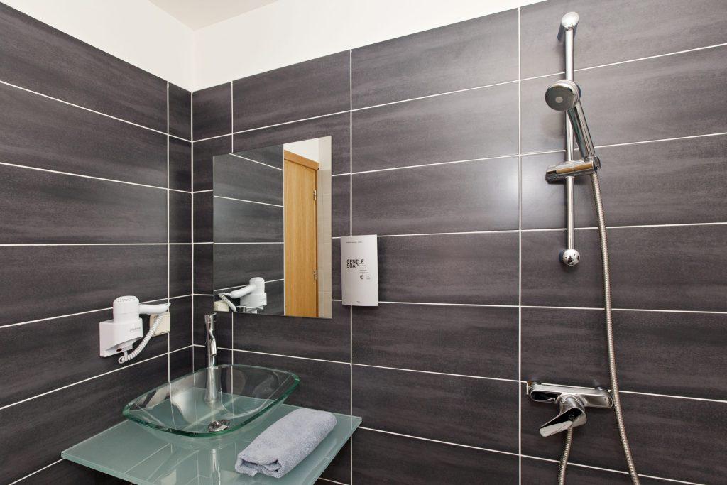 Evita Hotels & Resorts Indoor Bathroom Shower View Rhodes Greece