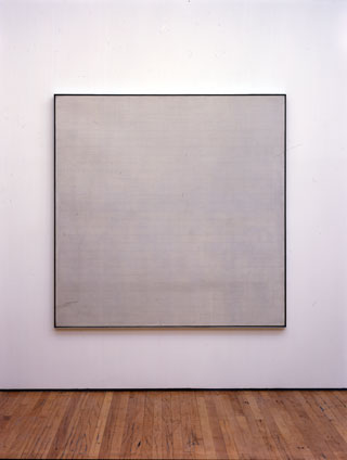 Agnes Martin painting