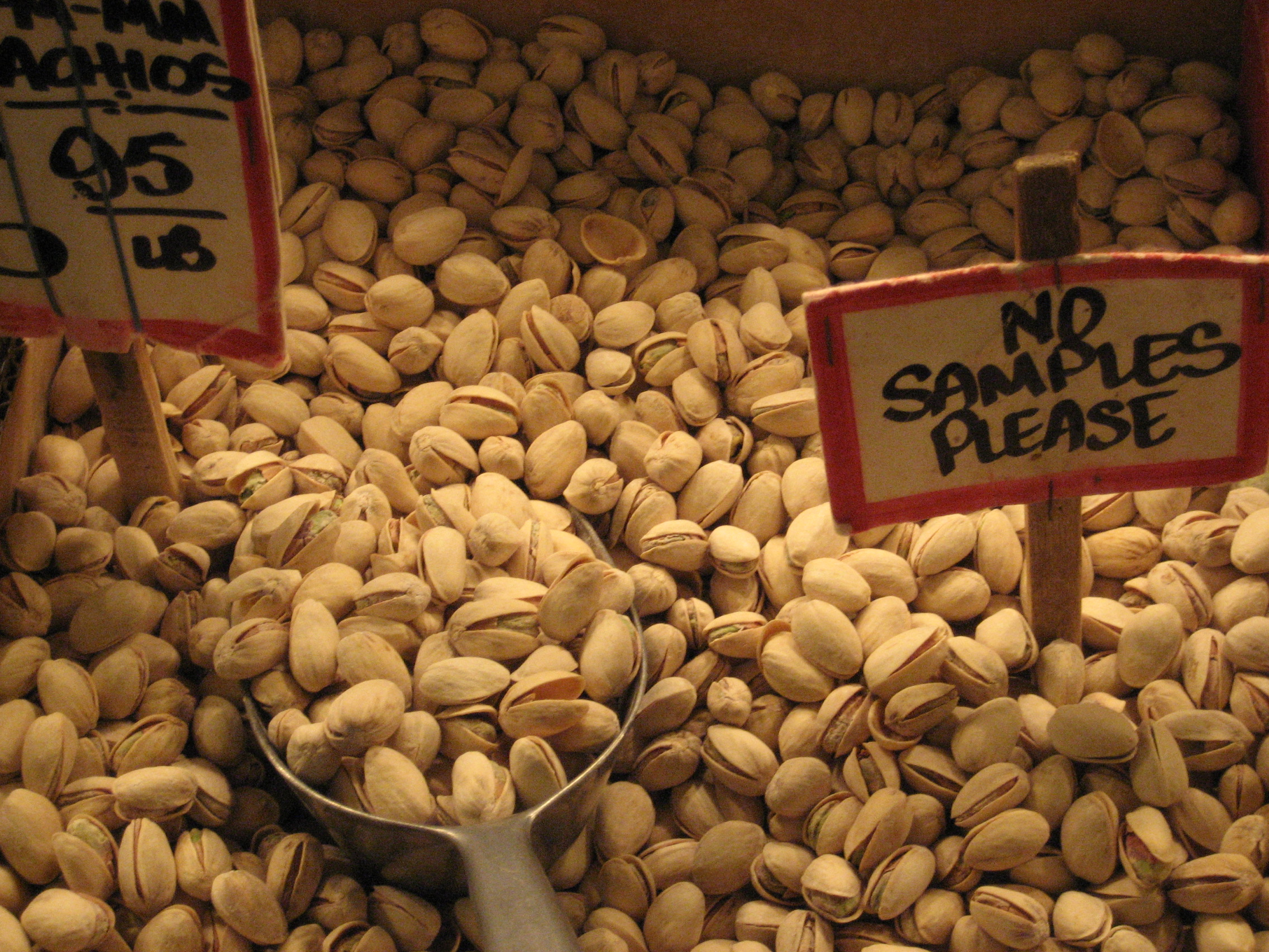 Pistachios at Pike's Place Market