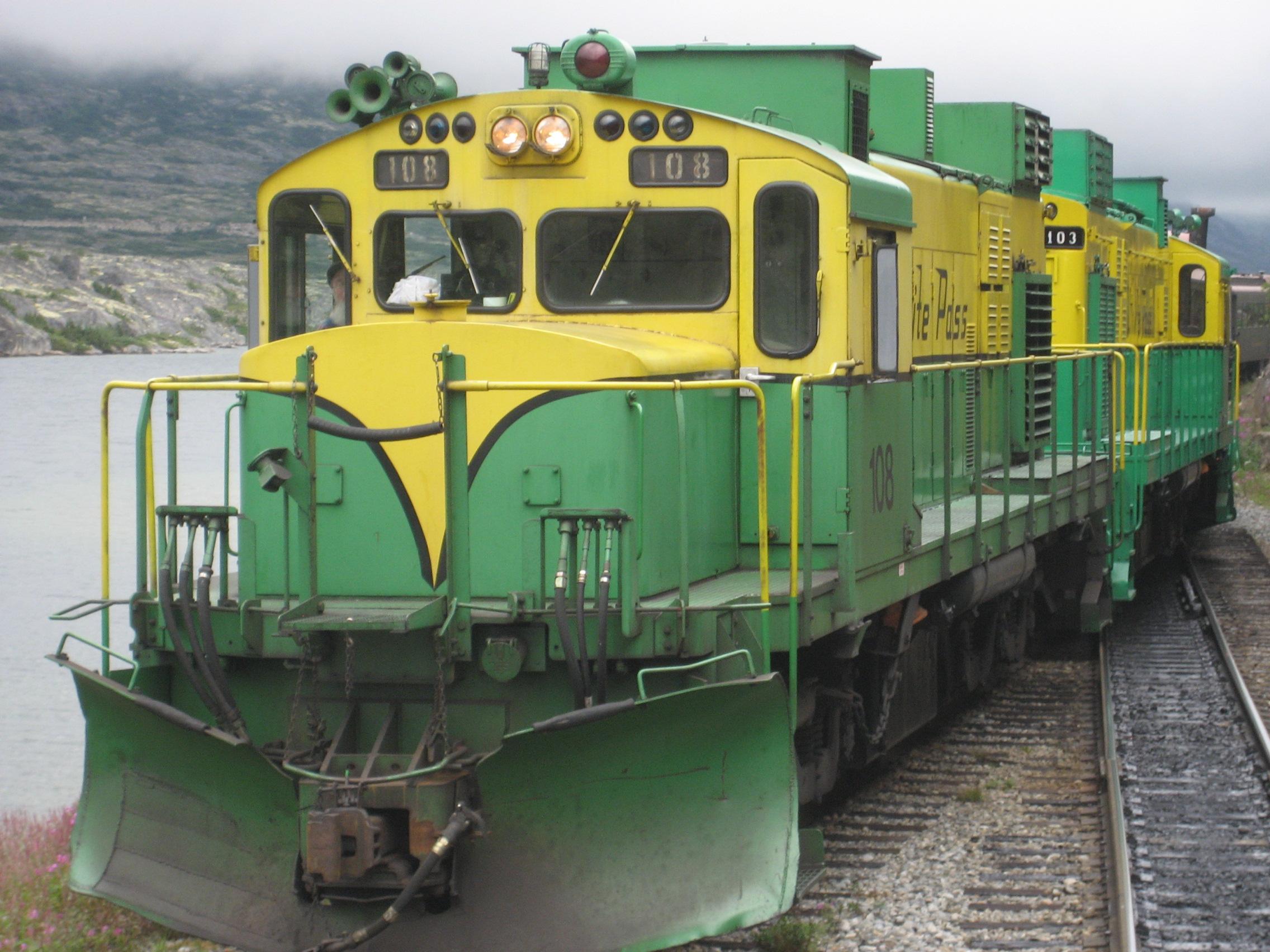 restored White Pass train