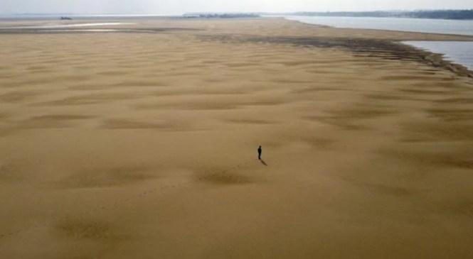 Река Парана, вторая по длине река в Южной Америке после Амазонки, пересыхает.