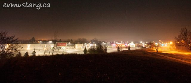 image of the strip mall along the parkway looking south in peterborough, ontario
