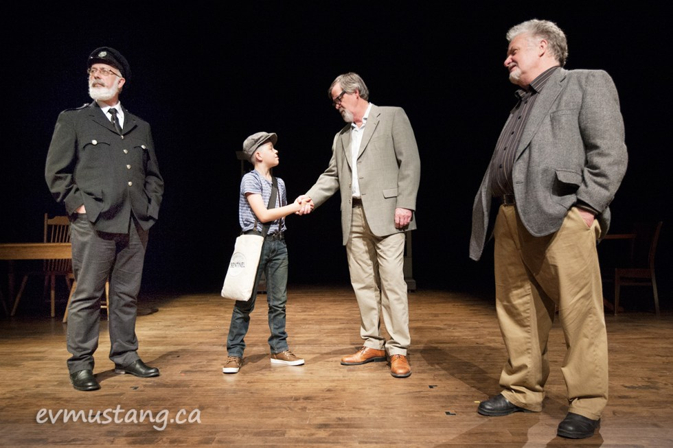 image of paperboy scene from new stages production of our town