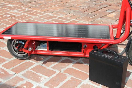 Solar Electric Scooter