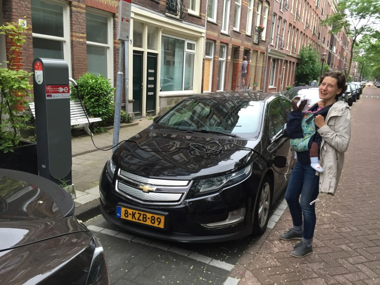Chevy Volt charging Amsterdam Holland