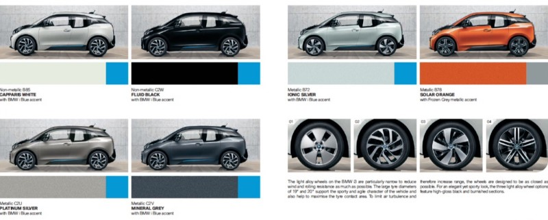 BMW i3 colors