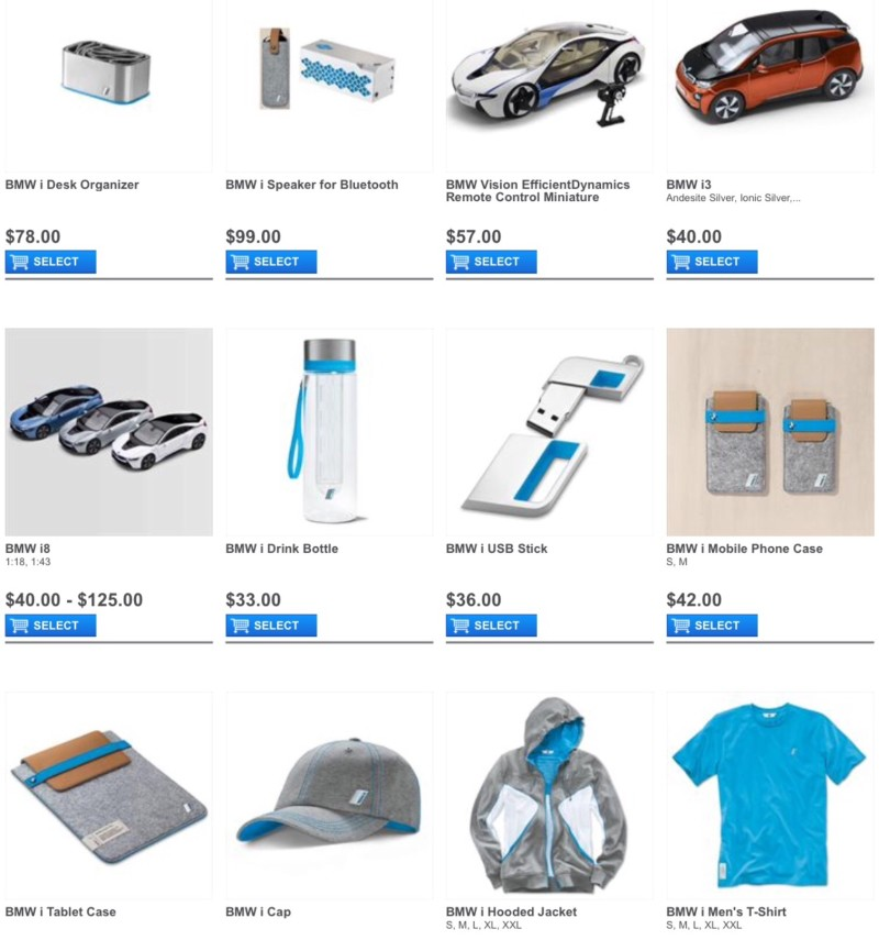 New BMW i Lifestyle Items Up For Sale Online Or At Dealers −