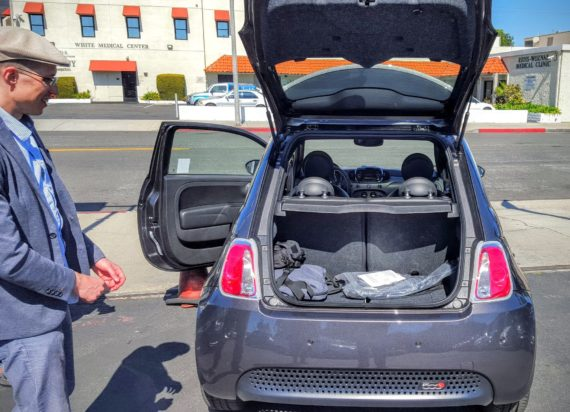 Fiat 500e trunk enhanced