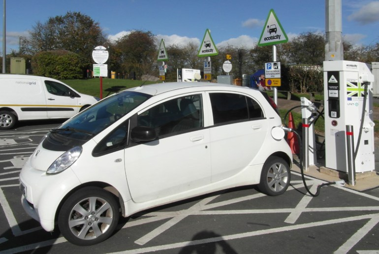 Peugeot Ion Charging Up