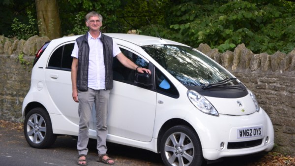 "Me and my ""inter-city"" city car, at Frome, UK"
