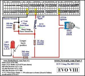 Map switching harness  EvoEcu