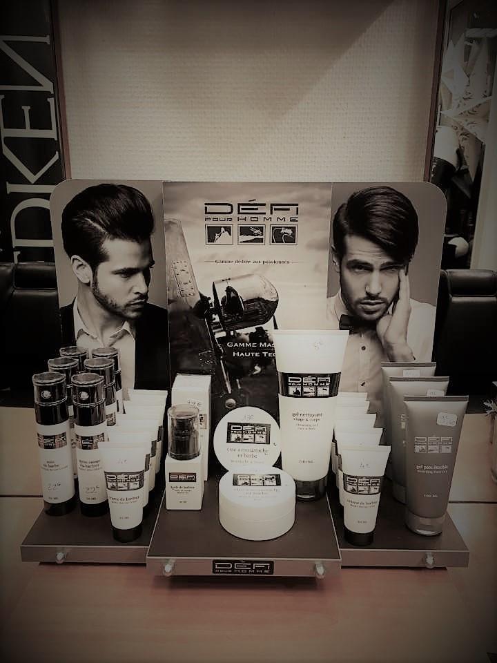 Présentoir produits soins de la barbe