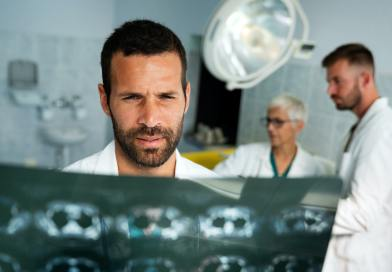 Radiology, health care, people, surgery and medicine concept