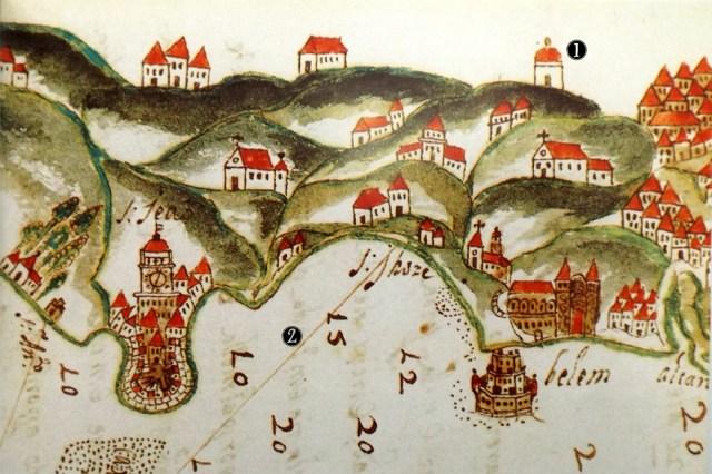 1607: Planta de la Barra de Lisboa, de Leonardo Turriano