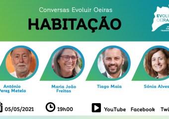 Cartaz conversa Evoluir Oeiras sobre habitação