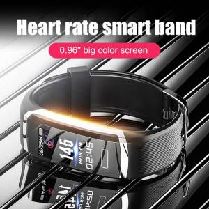 Smart Watch Waterproof IP67 Heart Rate Monitor Fitness Tracker Stopwatch Sport Wrist Watches cb5feb1b7314637725a2e7: Grey Black|Pink|silver black|silver blue|silver red|WHITE