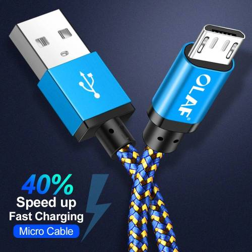 OLAF Micro USB Cable Fast Charging Sync Data USB Phone Cables cb5feb1b7314637725a2e7: Black|Blue|Gold|Green|Pink|Purple|Red|Rose Red|Silver|YELLOW