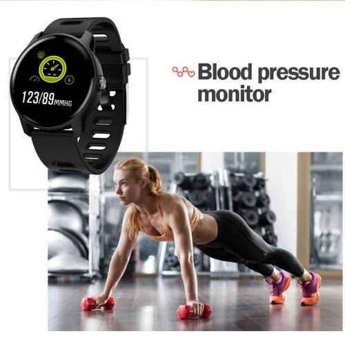 Fitness Tracker Heart Rate Monitor Pedometer Waterproof Smartwatch For Android IOS Phone Wrist Watches cb5feb1b7314637725a2e7: Black|GrayBlue|Pink|WHITE