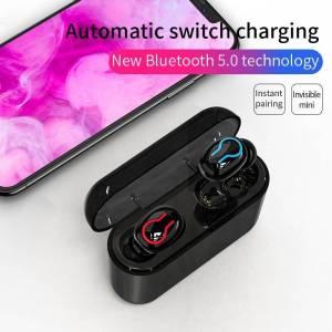 Portable Bluetooth Earphones In-ear 3D Stereo Sound With Mic Handsfree Sports Earphones & Headphones cb5feb1b7314637725a2e7: Hook black|Hook white|U black|U white