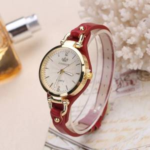 Rinnady Fashion Quartz Leather Strap Watches Wrist Watches cb5feb1b7314637725a2e7: Black Blue Brown Green Red WHITE