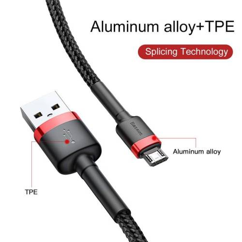 Reversible Micro USB Data Cable for Android Mobile Phone – Universal Cable USB Phone Cables cb5feb1b7314637725a2e7: Black|Dark Gray|Red