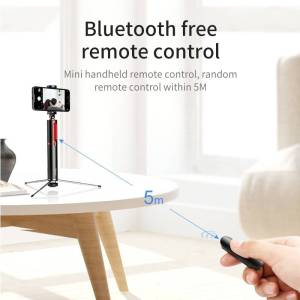 Bluetooth Selfie Stick Portable Handheld For Mobile Phones – Tripod with Wireless Remote Selfie Sticks & Tripods cb5feb1b7314637725a2e7: Gold Stripe|Red Stripe|Silver Stripe