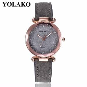 Starry Sky Wrist Watch Leather Rhinestone Wrist Watches cb5feb1b7314637725a2e7: Beige|Black|Brown|Green|grey|Pink|Purple|Red