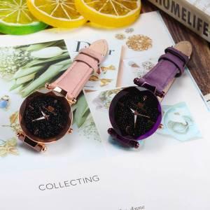 Starry Sky Female Leather Quartz Wrist Watch – Elegant Bracelet Wrist Watches cb5feb1b7314637725a2e7: Black|Blue|Coffee|Green|Pink|Purple|Red
